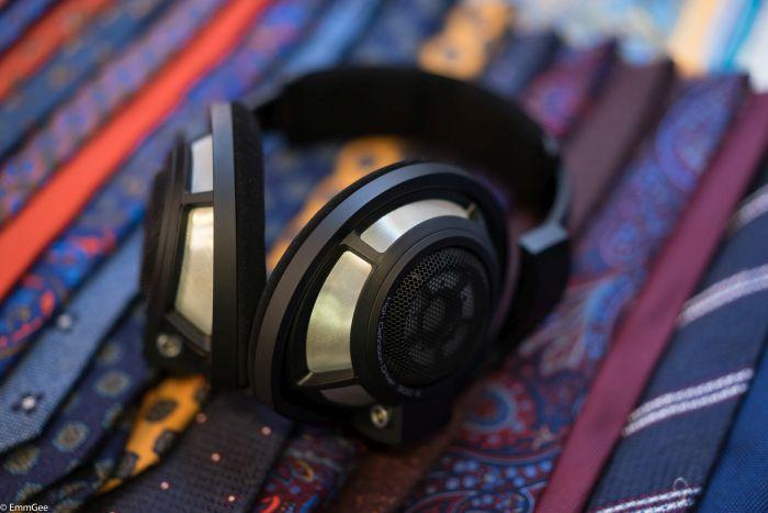 Sennheiser HD800s  headphones, hand-crafted in Germany.Ties by  Doherty Evans &Stott  hand made in Germany.