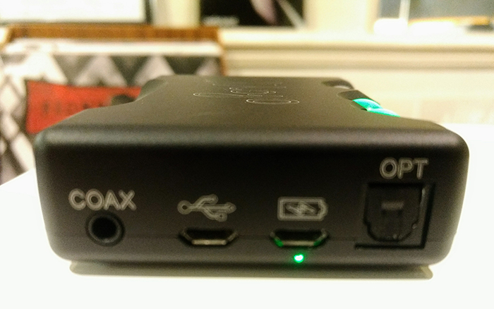 USB, optical and coaxial inputs