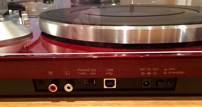 TEAC TN-300 rear view