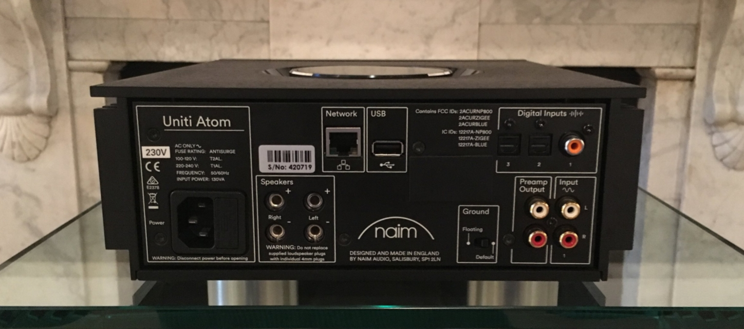 Naim Unit Atom Rear Panel