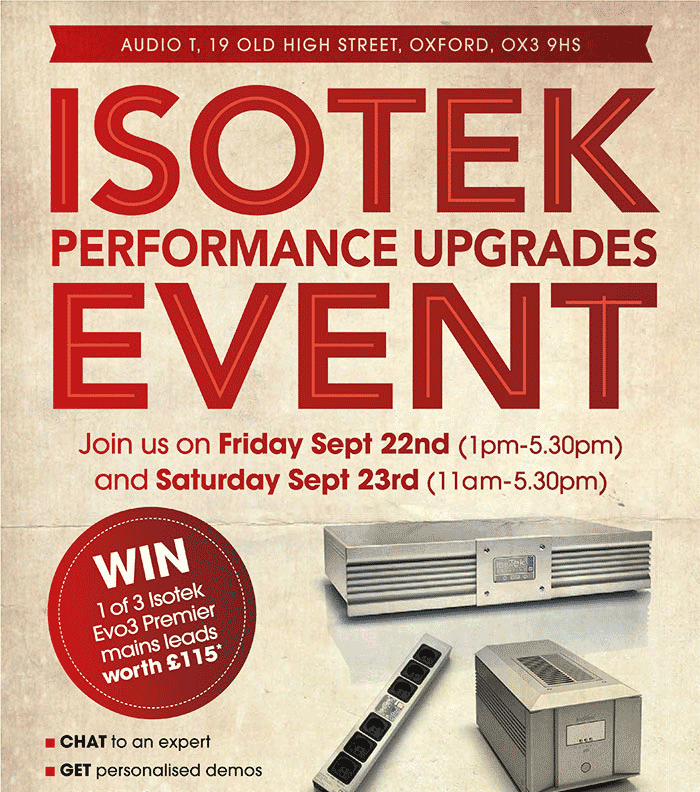 Your chance to win an IsoTek Premier Mains Cable worth £115 .