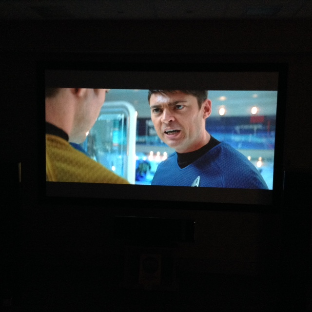 'Yes CAPTAIN, projectors are a very good way of enjoying movies'...