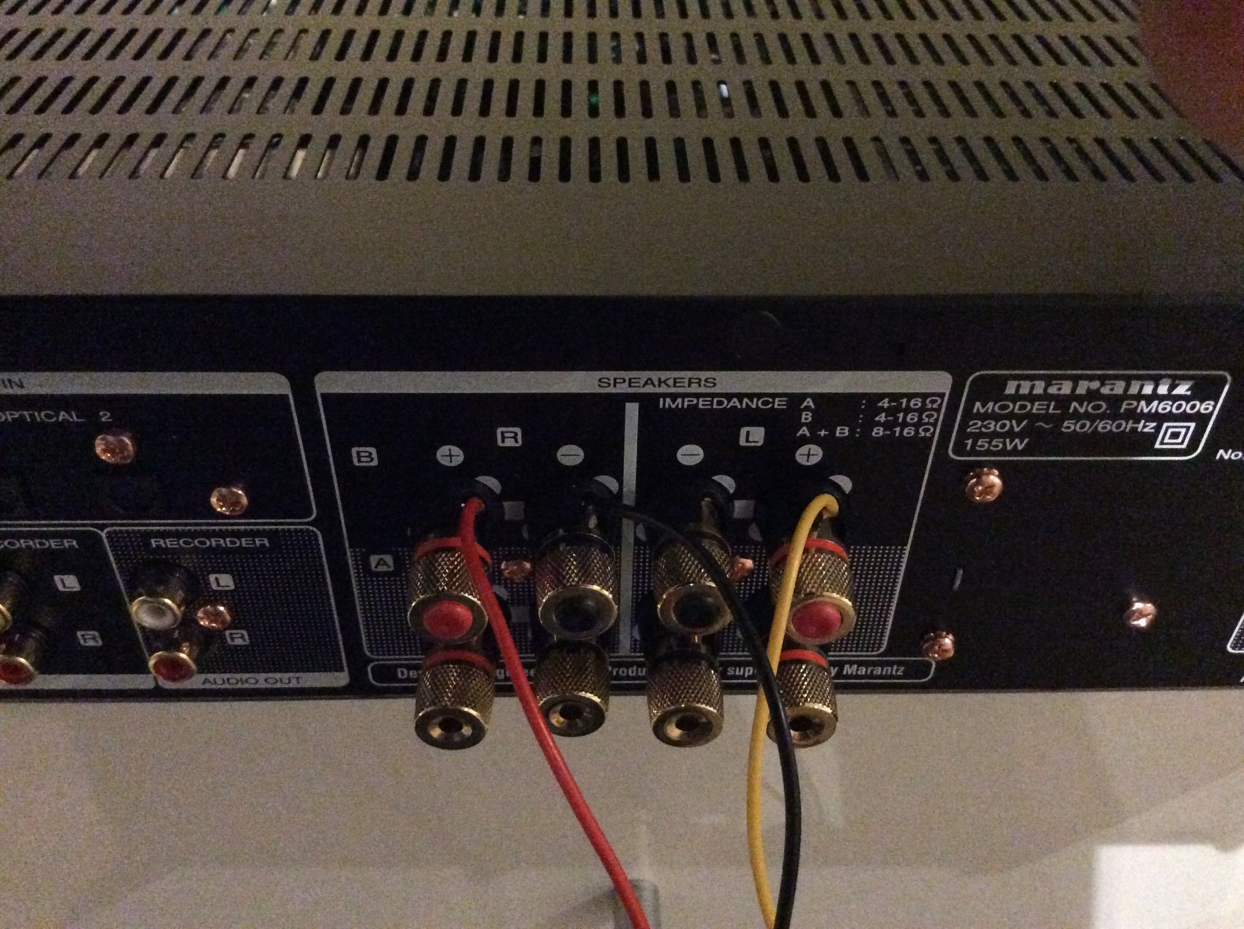 High Level Cable connected to Amplifier