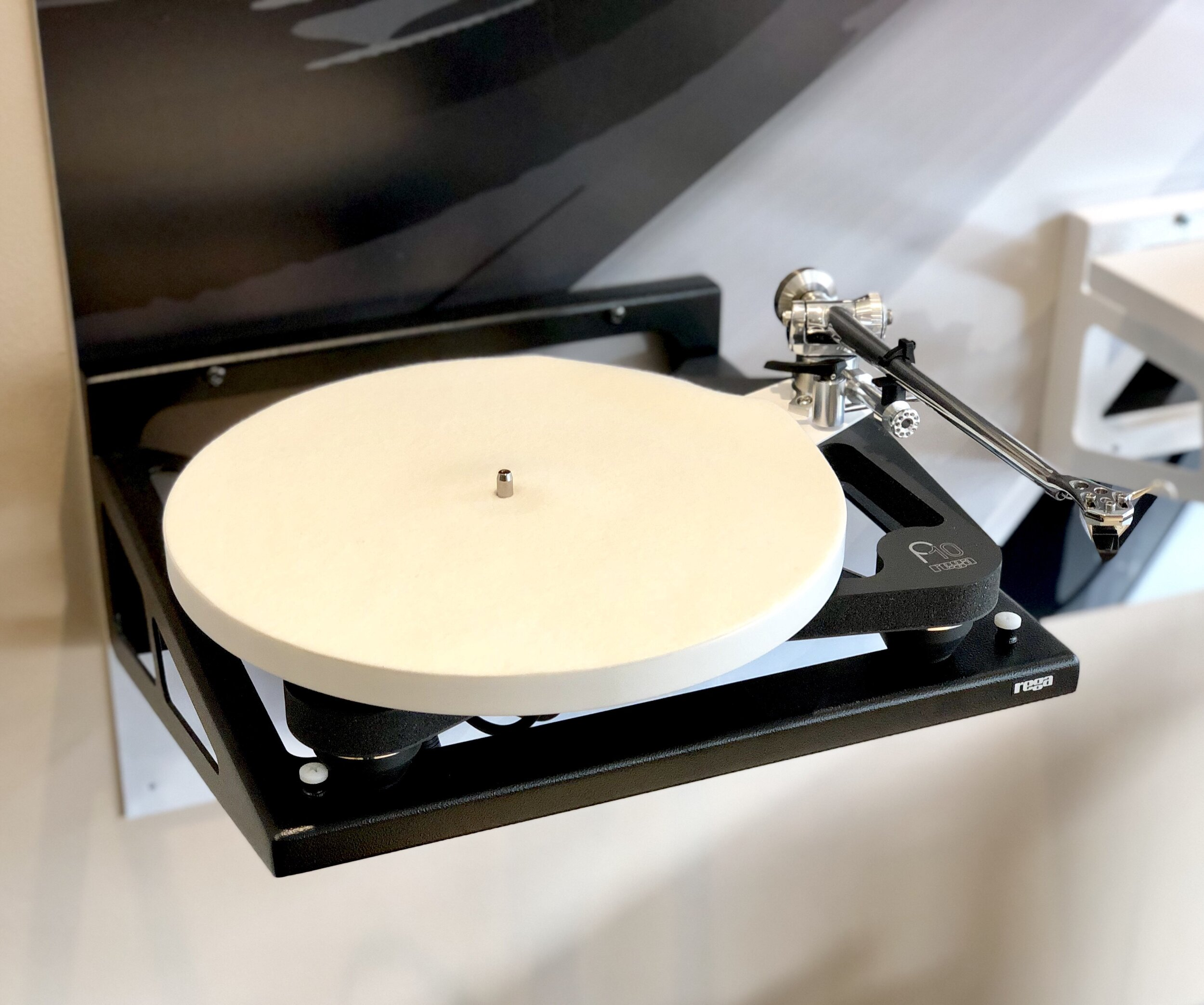 The Rega planar 10 on display in the portsmouth store