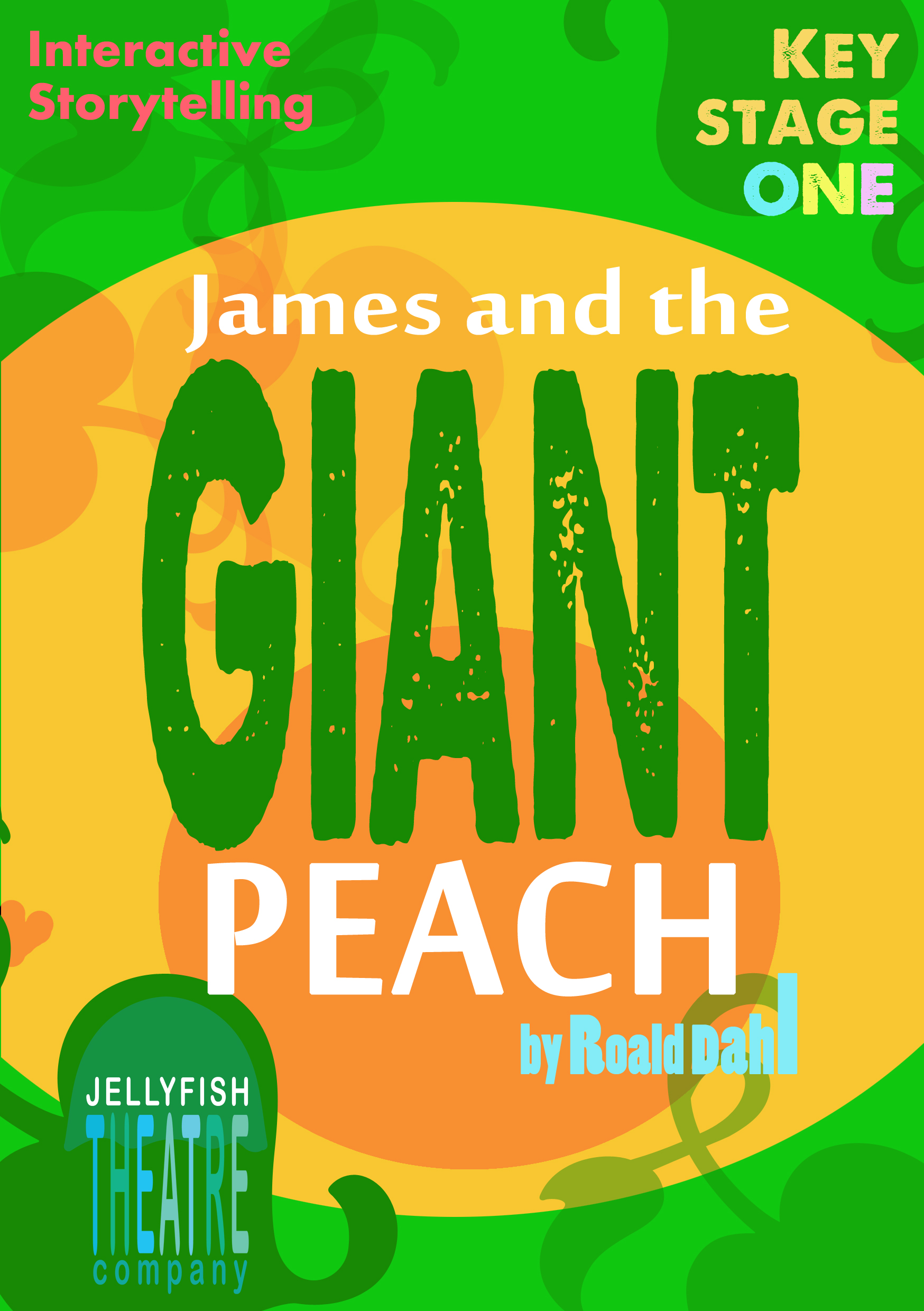 James and The Giant Peach leaflet for Jellyfish Theatre Company