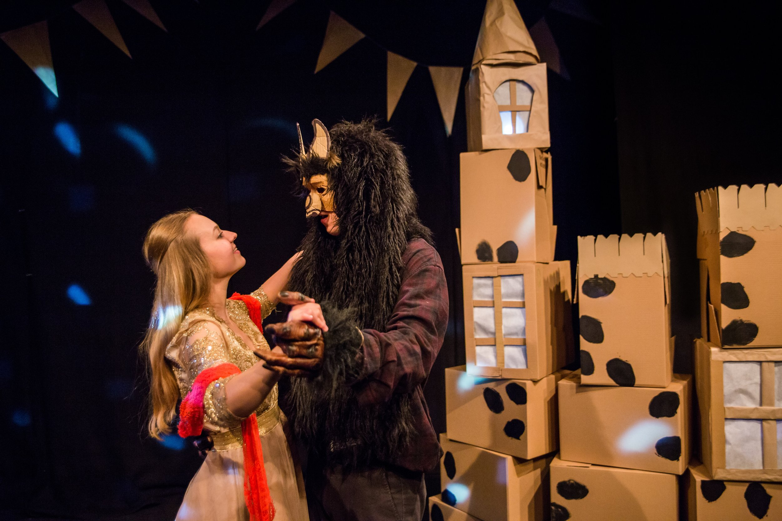Kayleigh Barnes and Linus Karp in Beauty and the Beast