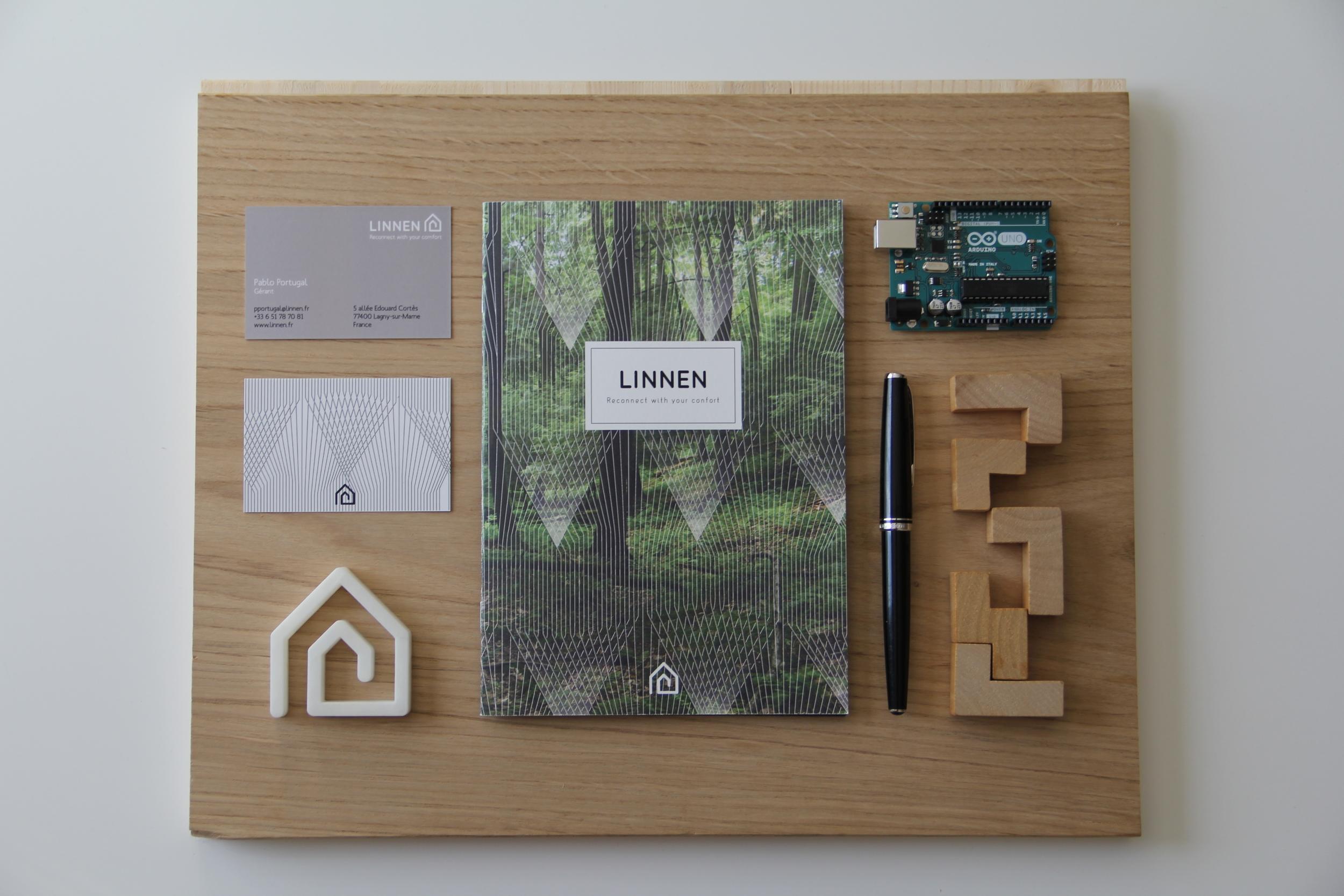 La brochure Linnen: b  elles matières, design et technologie