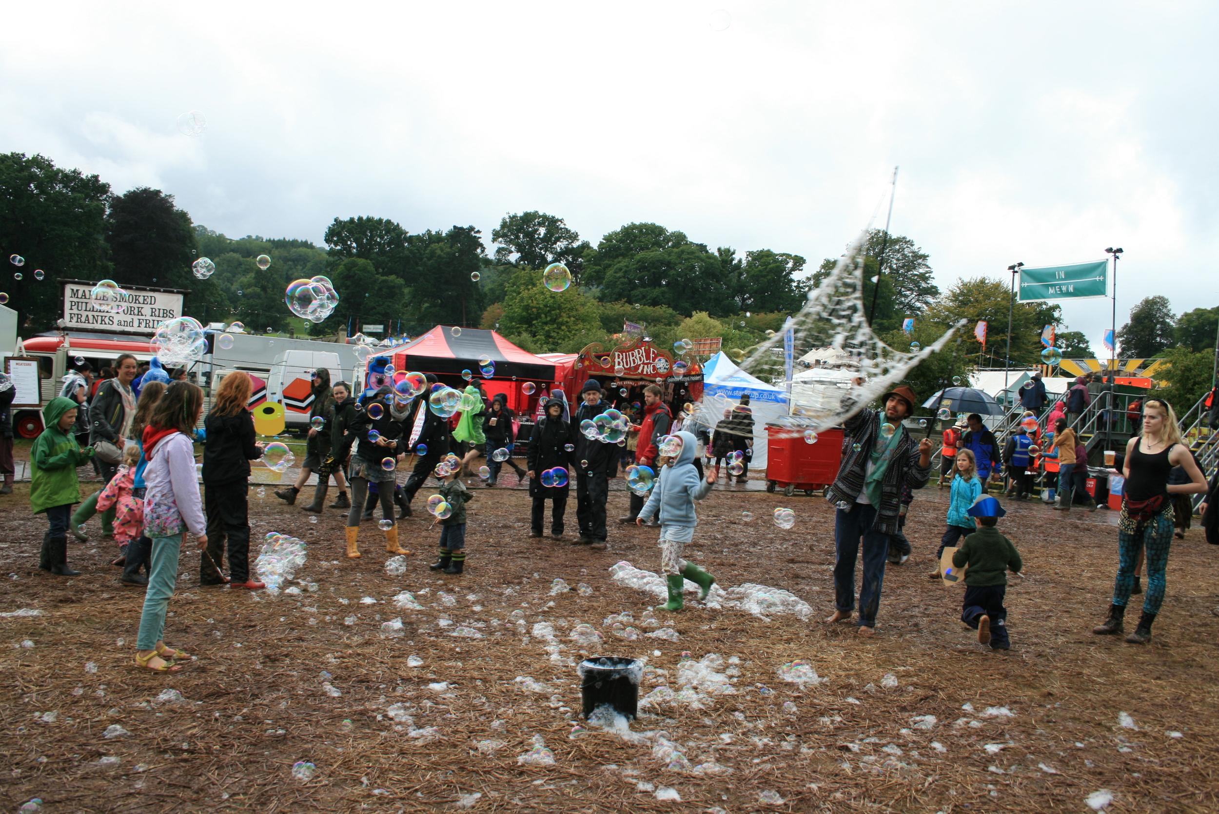 Children go crazy for the bubbles!