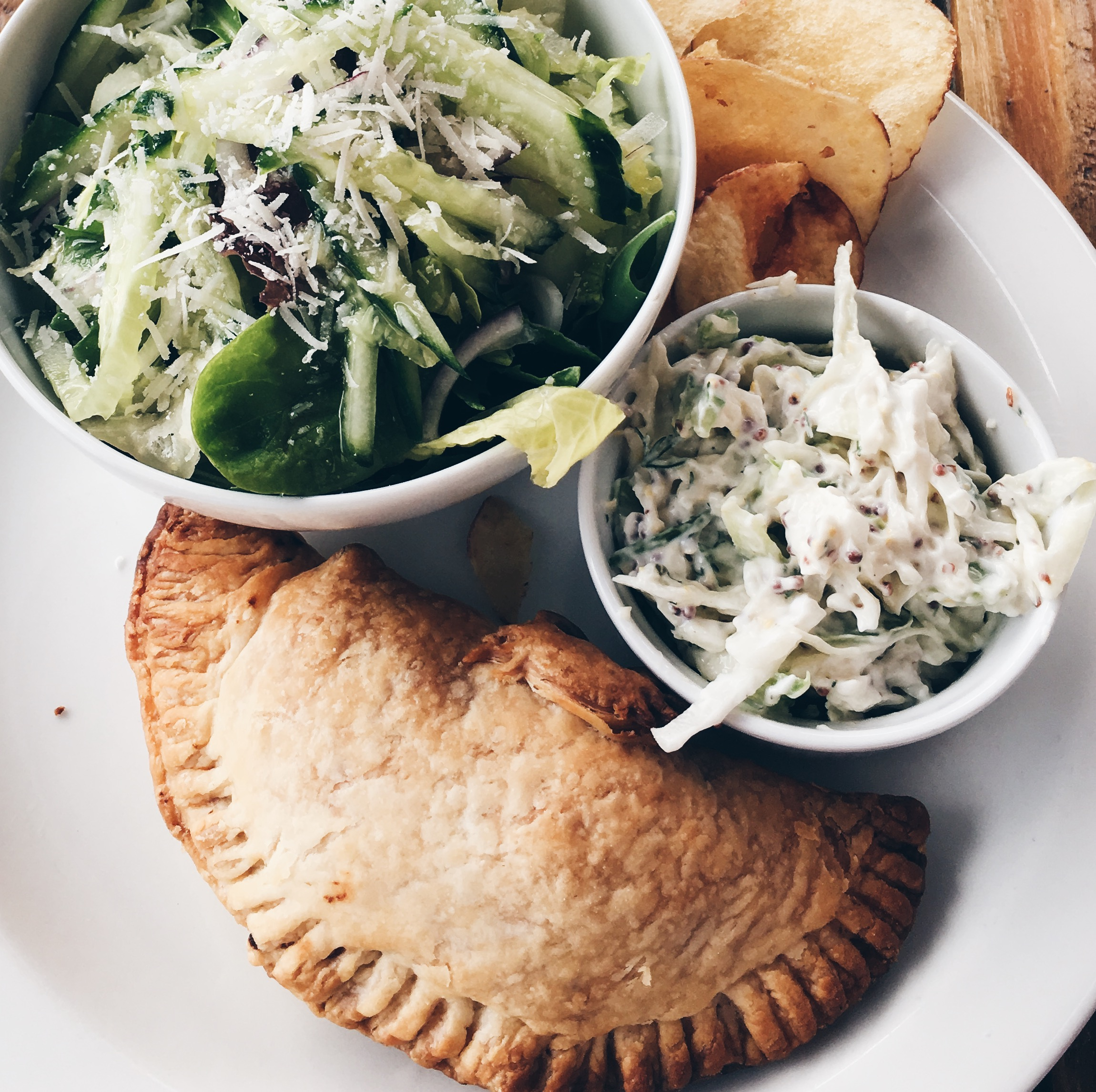 The very special crab pasty at The Crab Shed.  A taste of the sea!!!