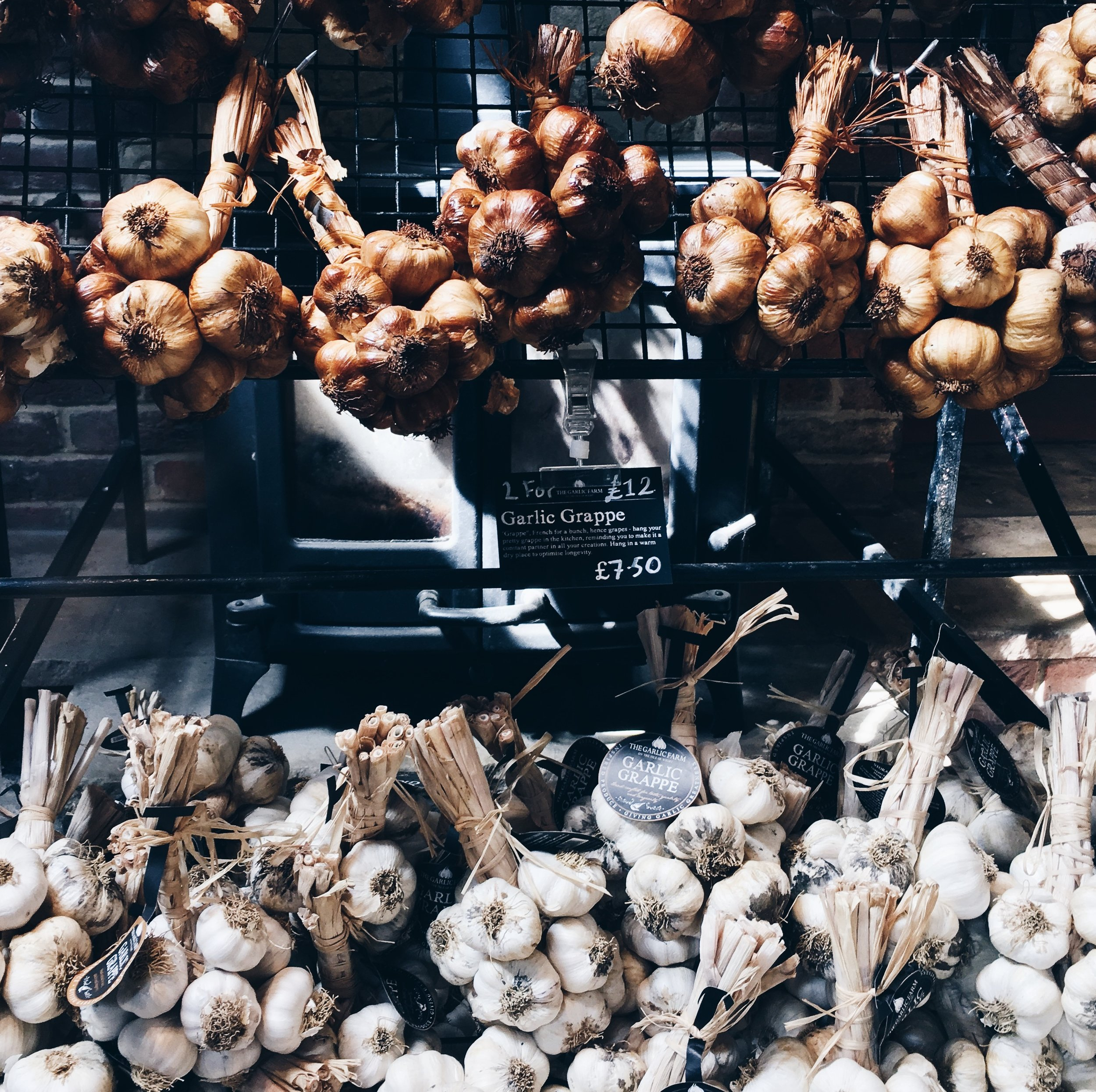 Just a small example of the vast variteies of garlic available to buy from the farm.