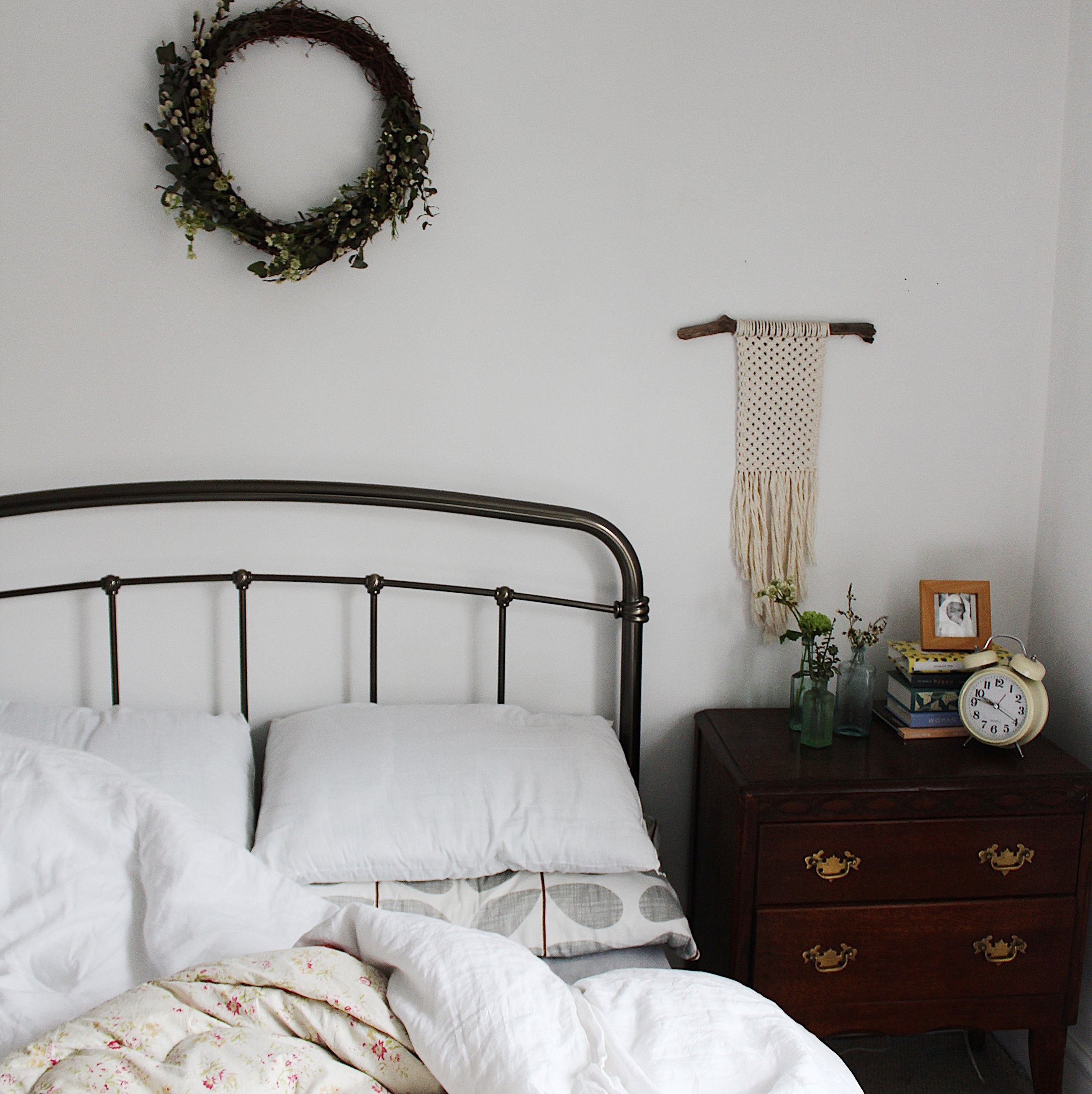 The bedroom has been a real sanctuary from the mess downstairs. It's really important to get proper rest in a calm space.