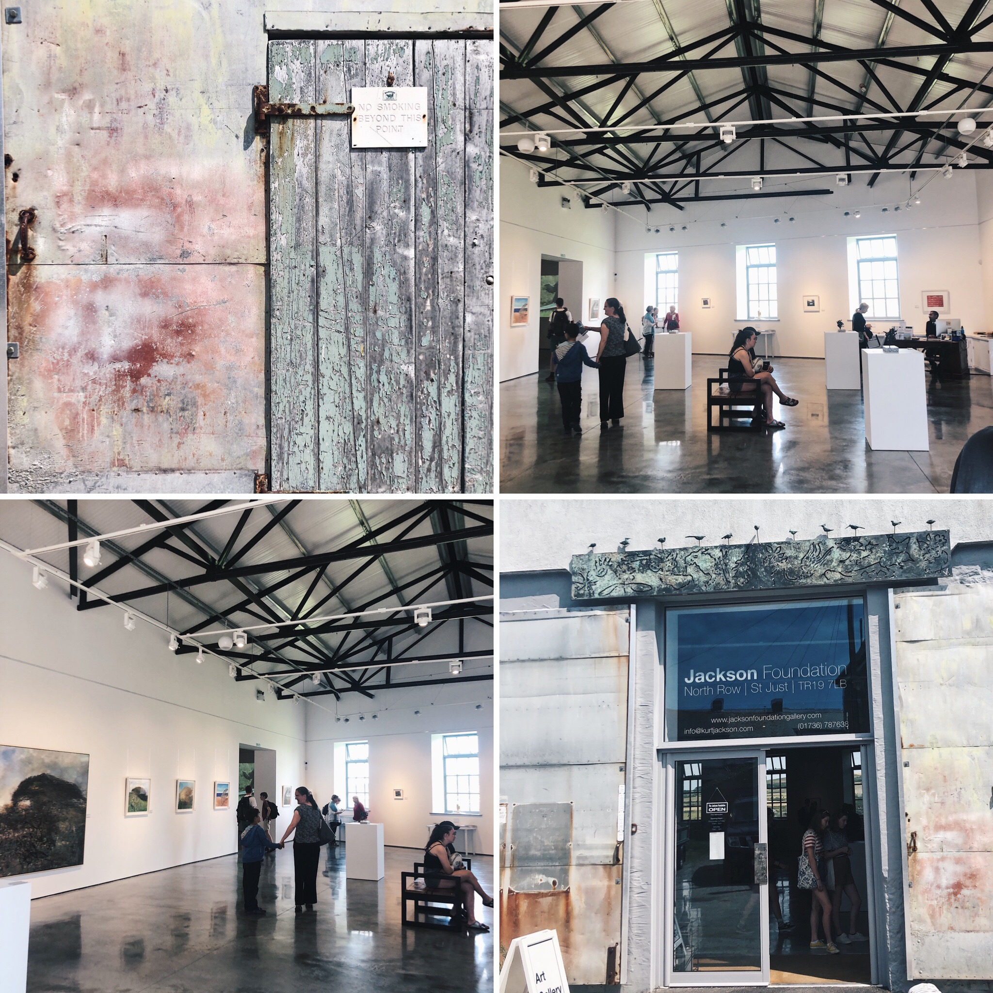 The Kurt Jackson Foundation in St Just. Industrial, spacious and inspiring. The polished concrete floor was stunning by itself!