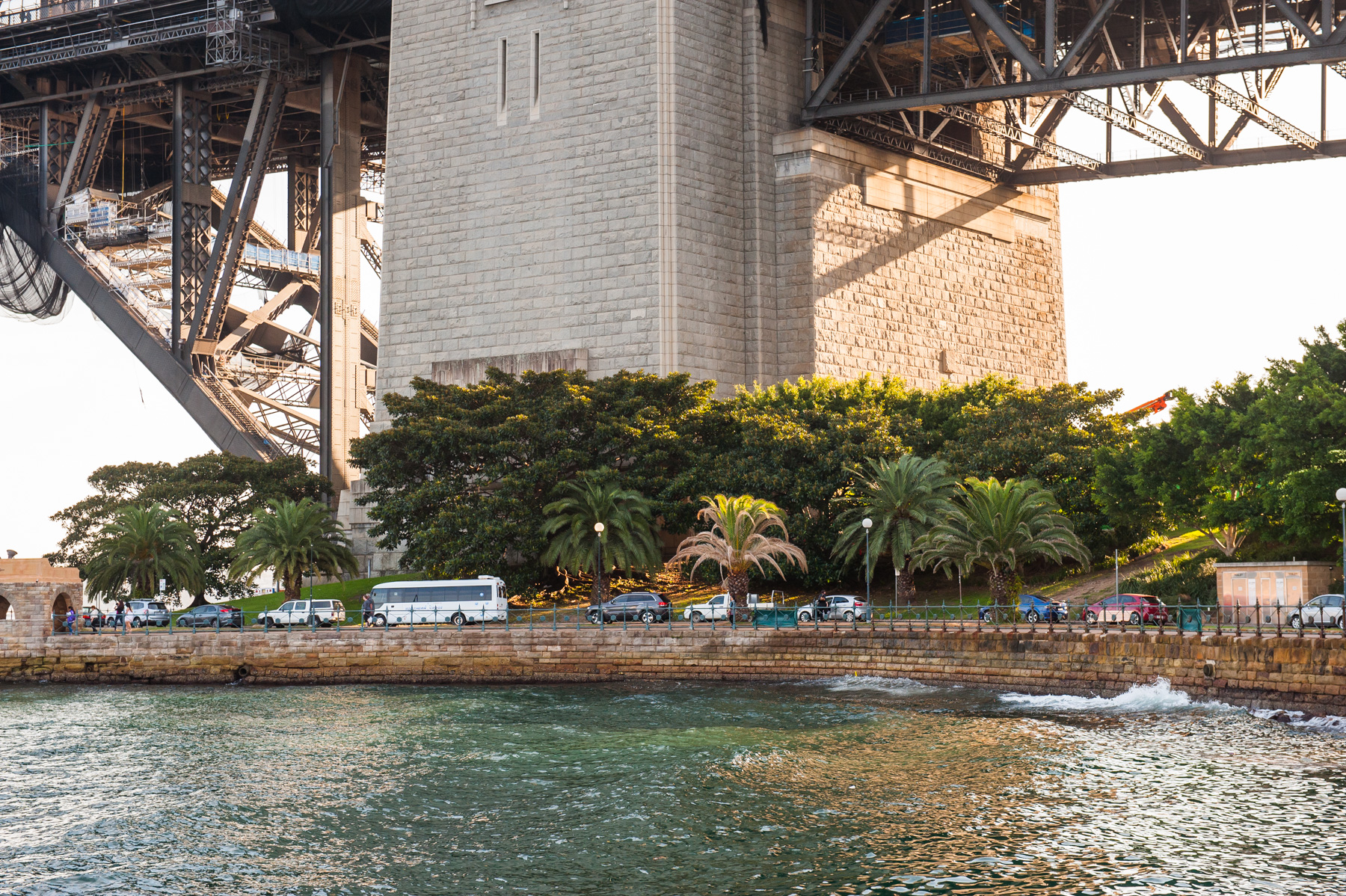 View to Bradfield Park | Under the harbour Bridge | Note - Public toilets on right