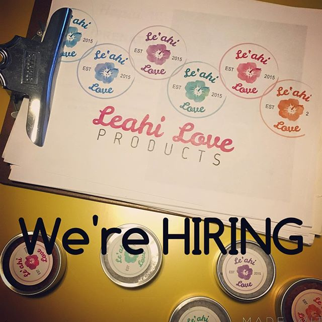 [CAREER] looking for a position in sales that allows you to work at your own leisure? We're hiring a sales representative. For more information, email us at: aloha@leahilove.com #MadeinHawaii