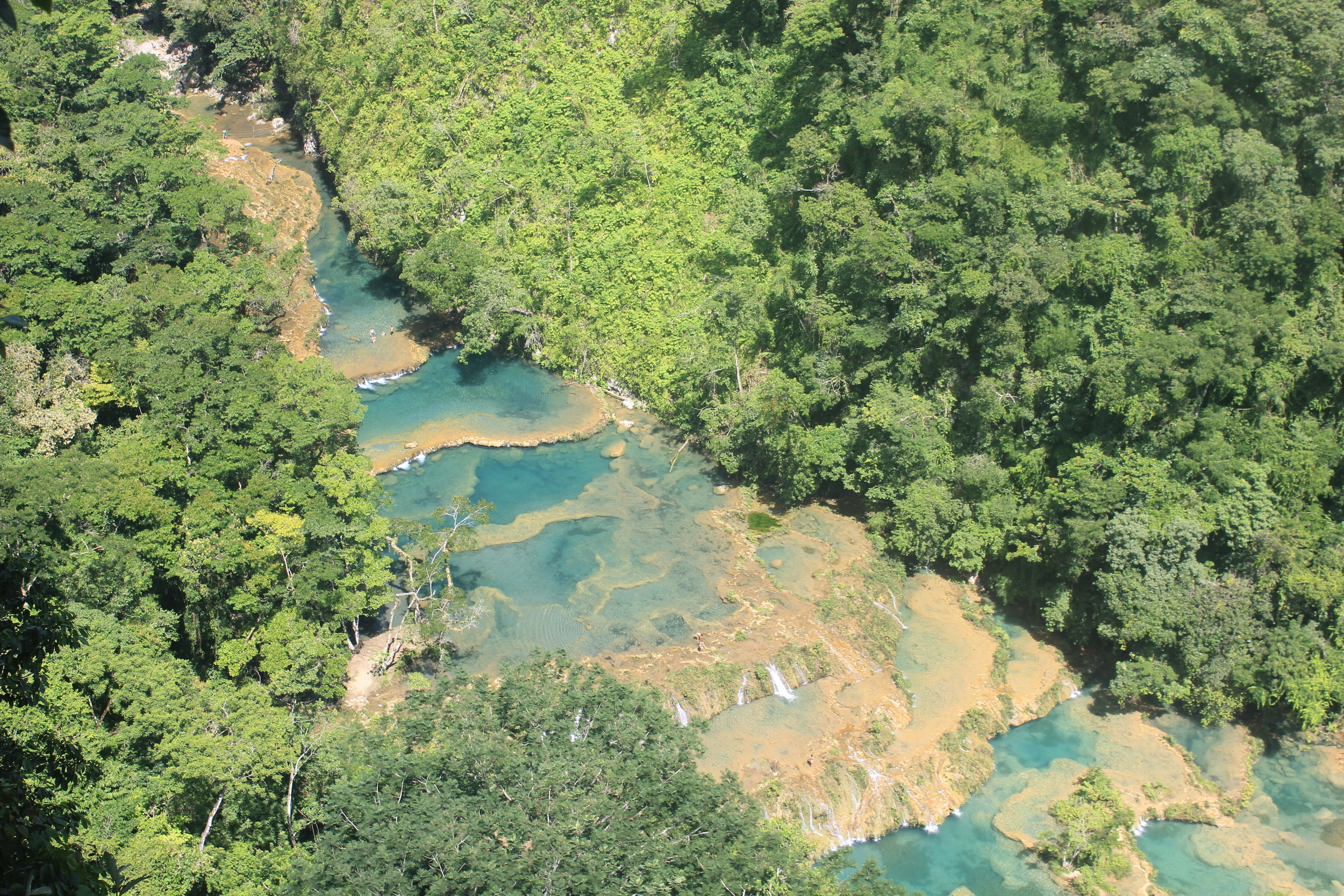The views from the look out at Semuc Champey