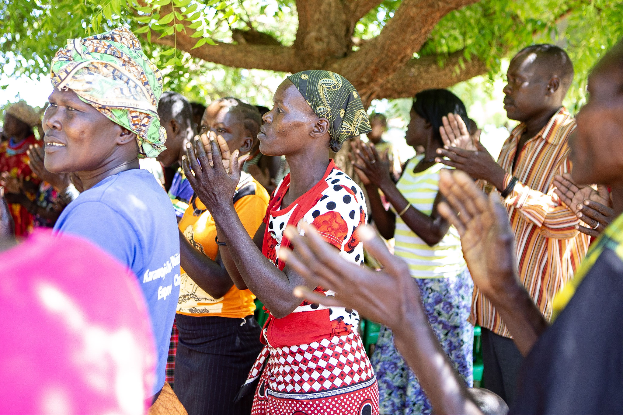 Group meeting in Karamoja, Uganda.