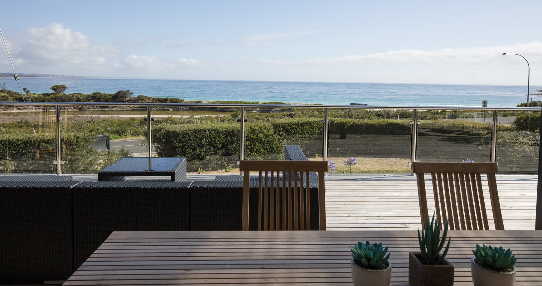 Spectacular uninterrupted views of the 'Bay of Fires'
