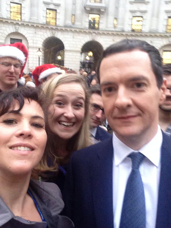 "A silly selfie with George Osborne to a) prove it happened and b) because one of the other small business owners shouted ""what about the girls?"" as he was being ushered away, so the Chancellor was forced to stop in his tracks. Hopefully the voice of small business can be as effective at influencing the government on bigger issues."