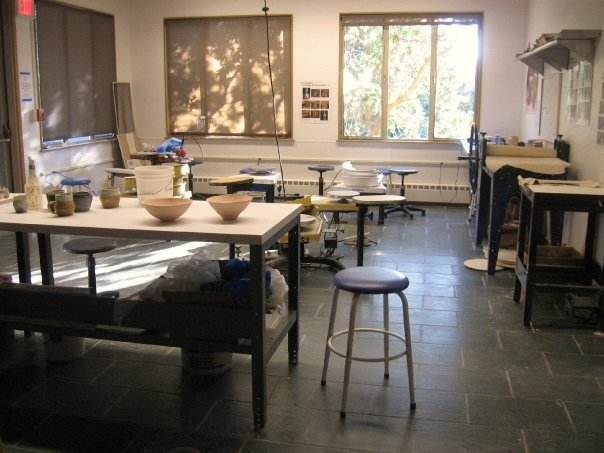 The pottery studio at Stanford university.