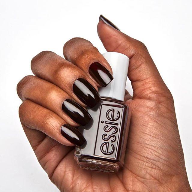 Wicked !❤️ @essie A Deep & Dark  Creamy Sinister Red Shade popular for Fall & Winter Season ❄️🍂🍁#wicked #essie #essielove #mydubai #downtowndubai #uae #loveyournails #downtowndubai #nailicious #nailiciousdifc #metime #chic #modern #trendy #mydubai