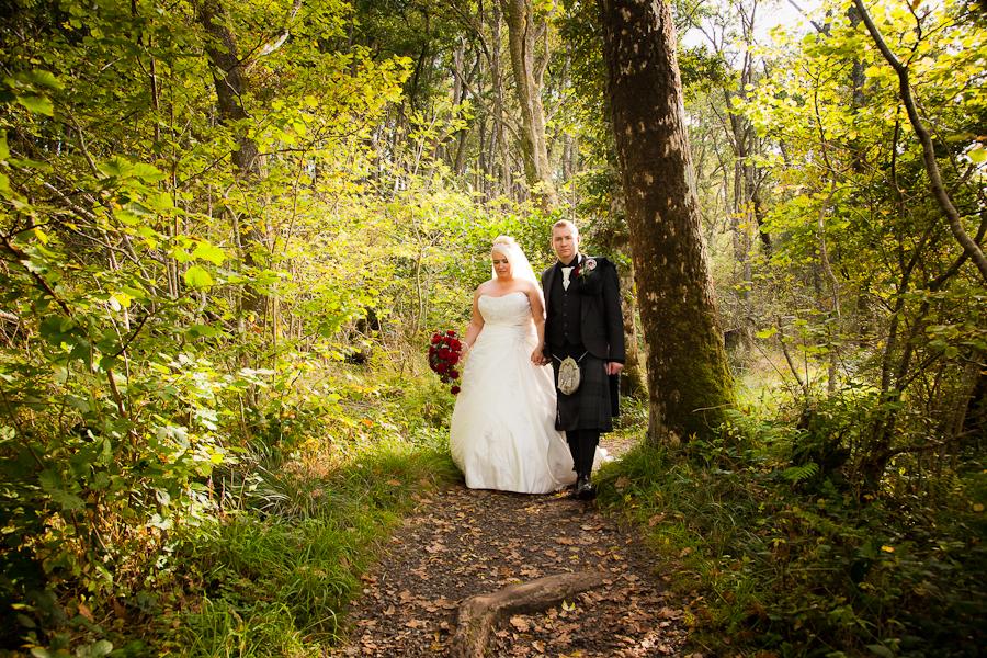 Richard and Amanda Bolt - wedding photographs at Loch Lomond