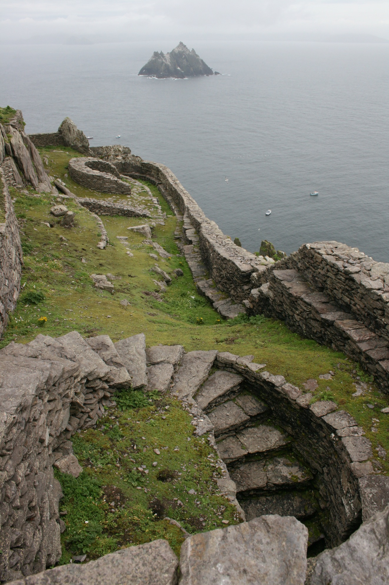 View of Skellig Beag from Skellig Michael, Co Kerry.