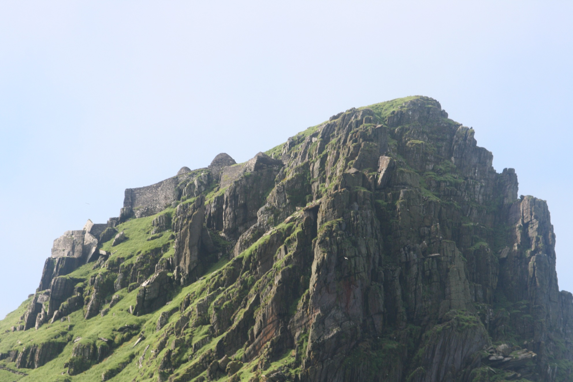 At the summit of Skellig Michael sits the monastery.