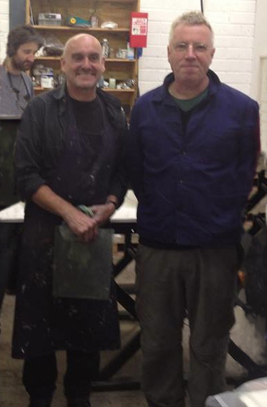 Workshop with Hughie O'Donoghue at Cill Rialaig Artists Retreat, Co. Kerry in 2013.