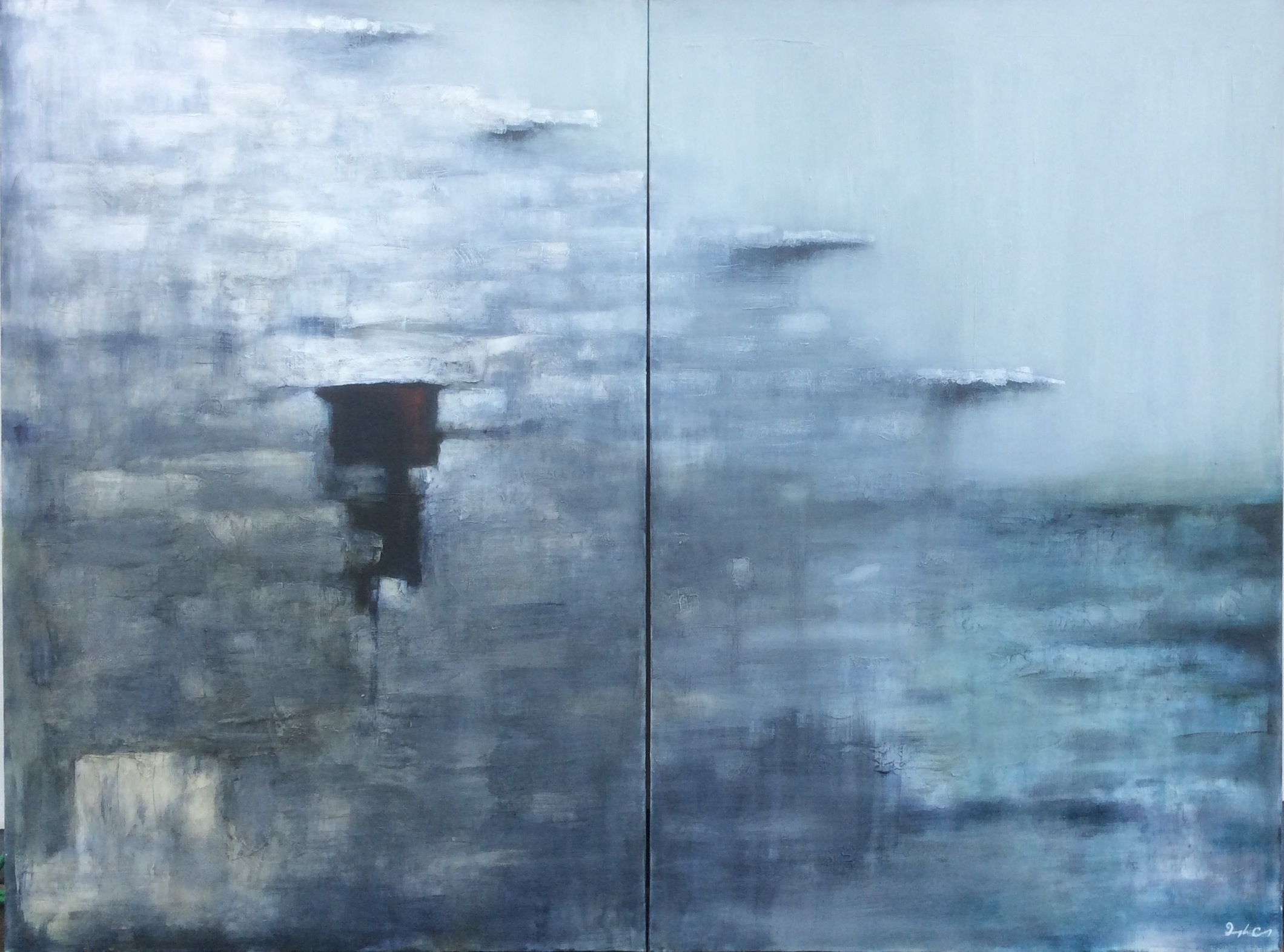 Refuge   Diptych. Oil on Canvas. 183 x 244cm.  €POA