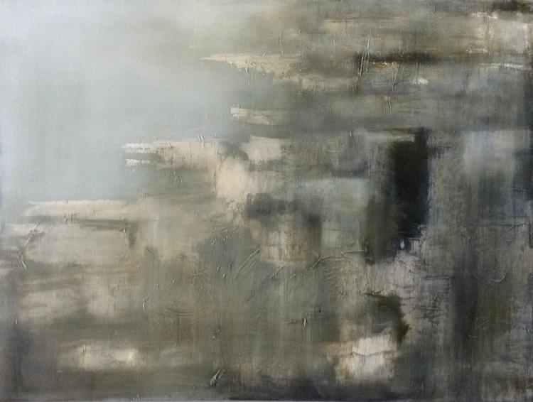 Epoch, Skellig lll Oil on canvas. Painting 76cm x 101cm. Frame 83cm x 109cm. €sold