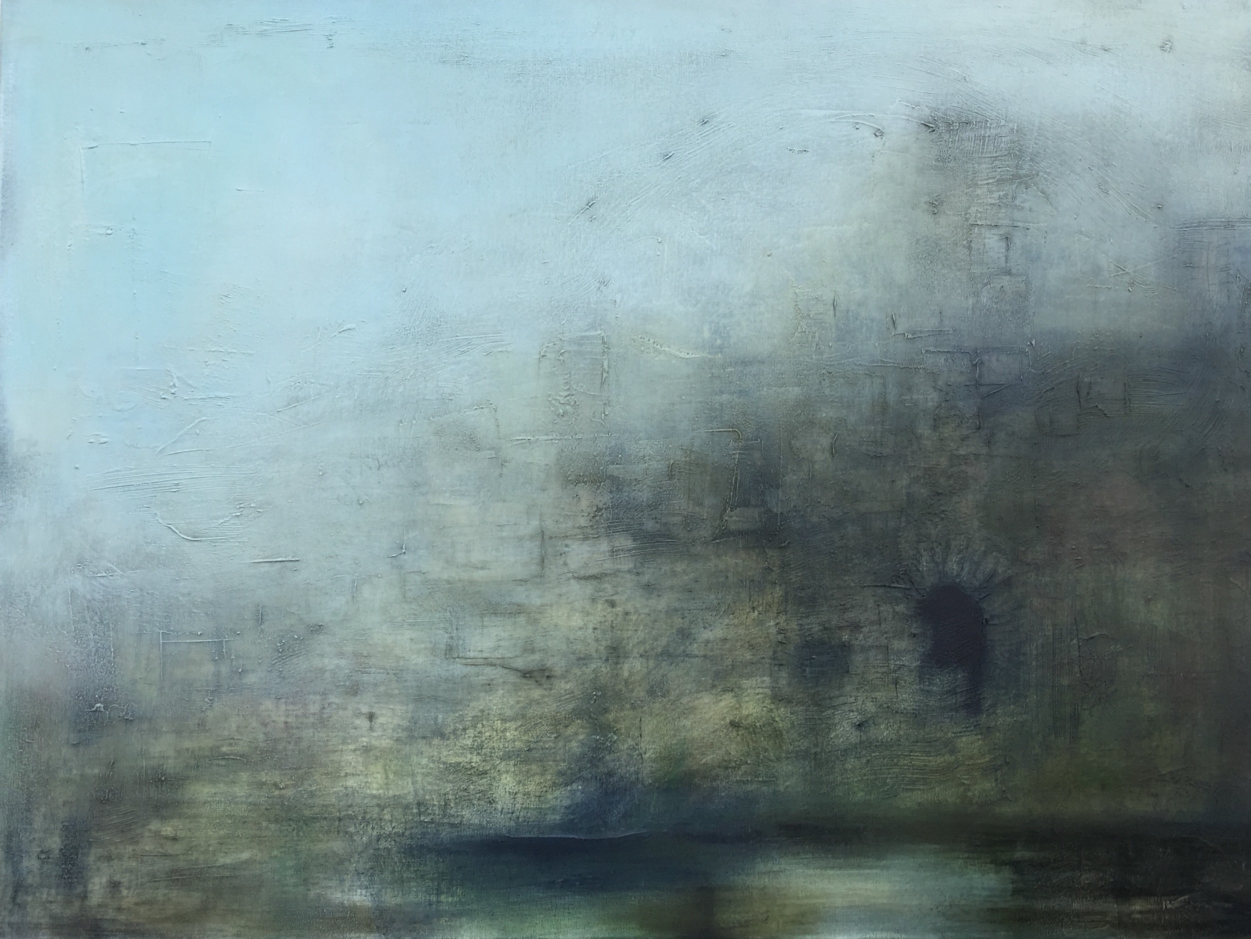 Curtain Wall  oil on canvas, painting 75cm x 100cm, frame 80cm x 105cm, €reserved