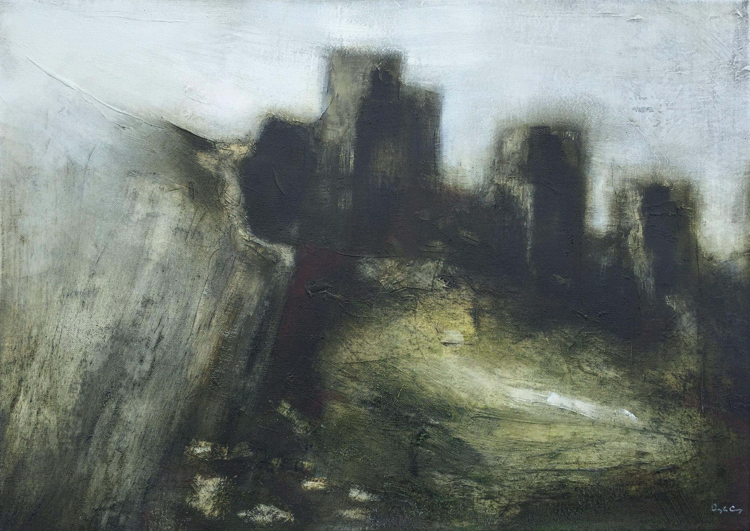 Promontory   oil on canvas, painting 50cm x 70cm, frame 55cm x 75cm, €780