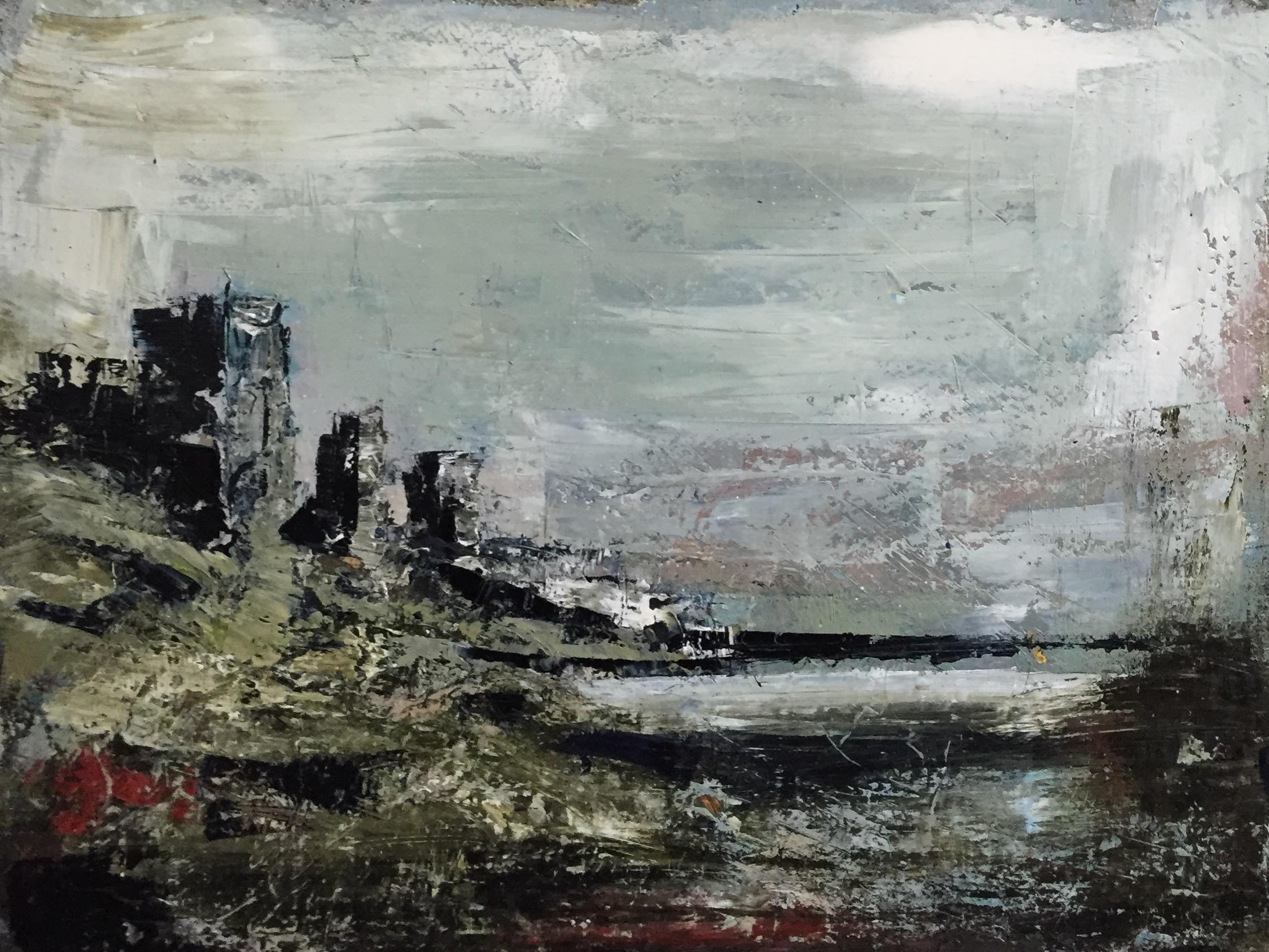 Dun Locha   oil on board, painting 22cm x 30cm, frame 41cm x 49cm, €595