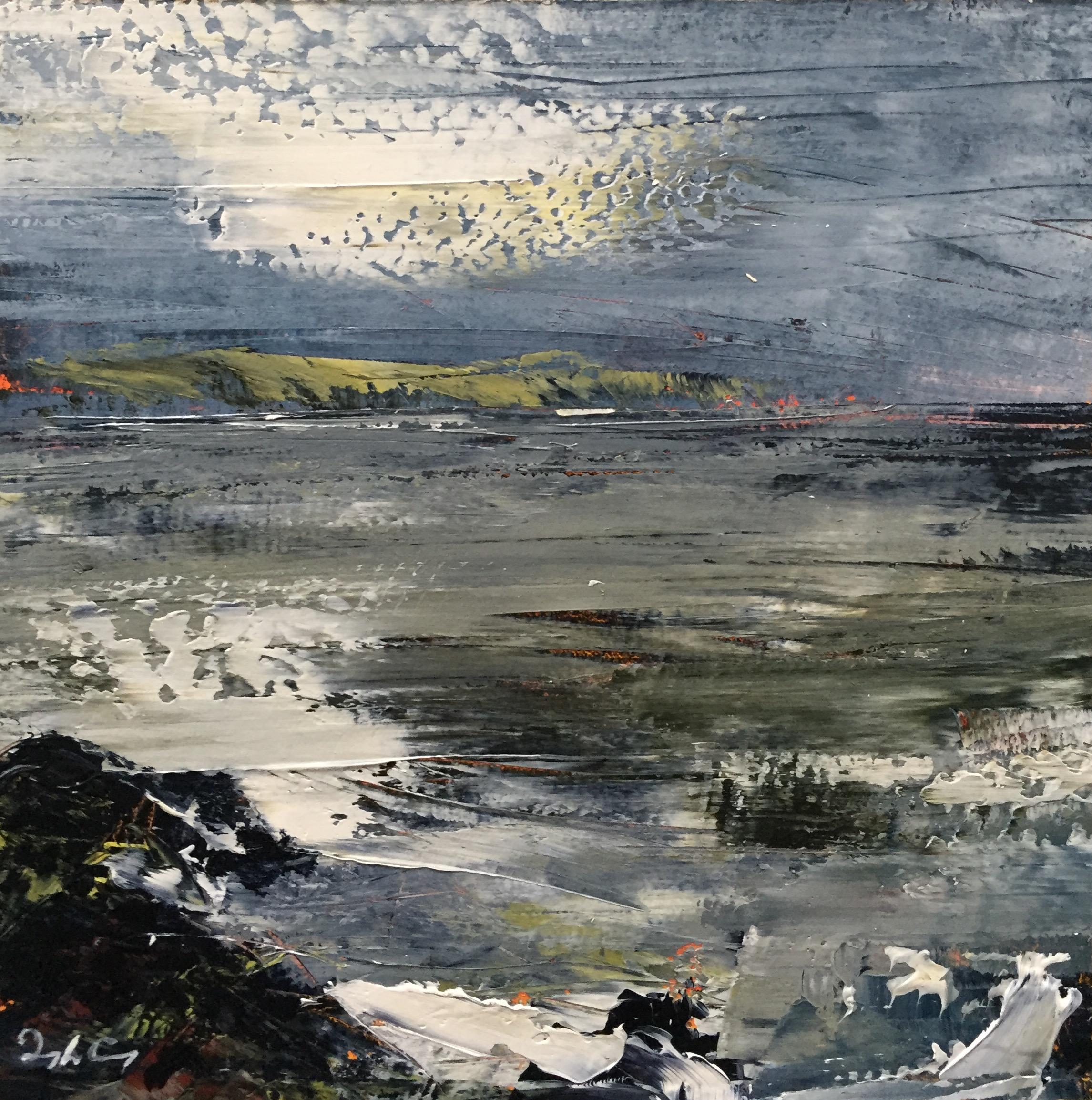 Crewe Bay, September 2017 l  Painting 15cm x 15cm. Oil on board.