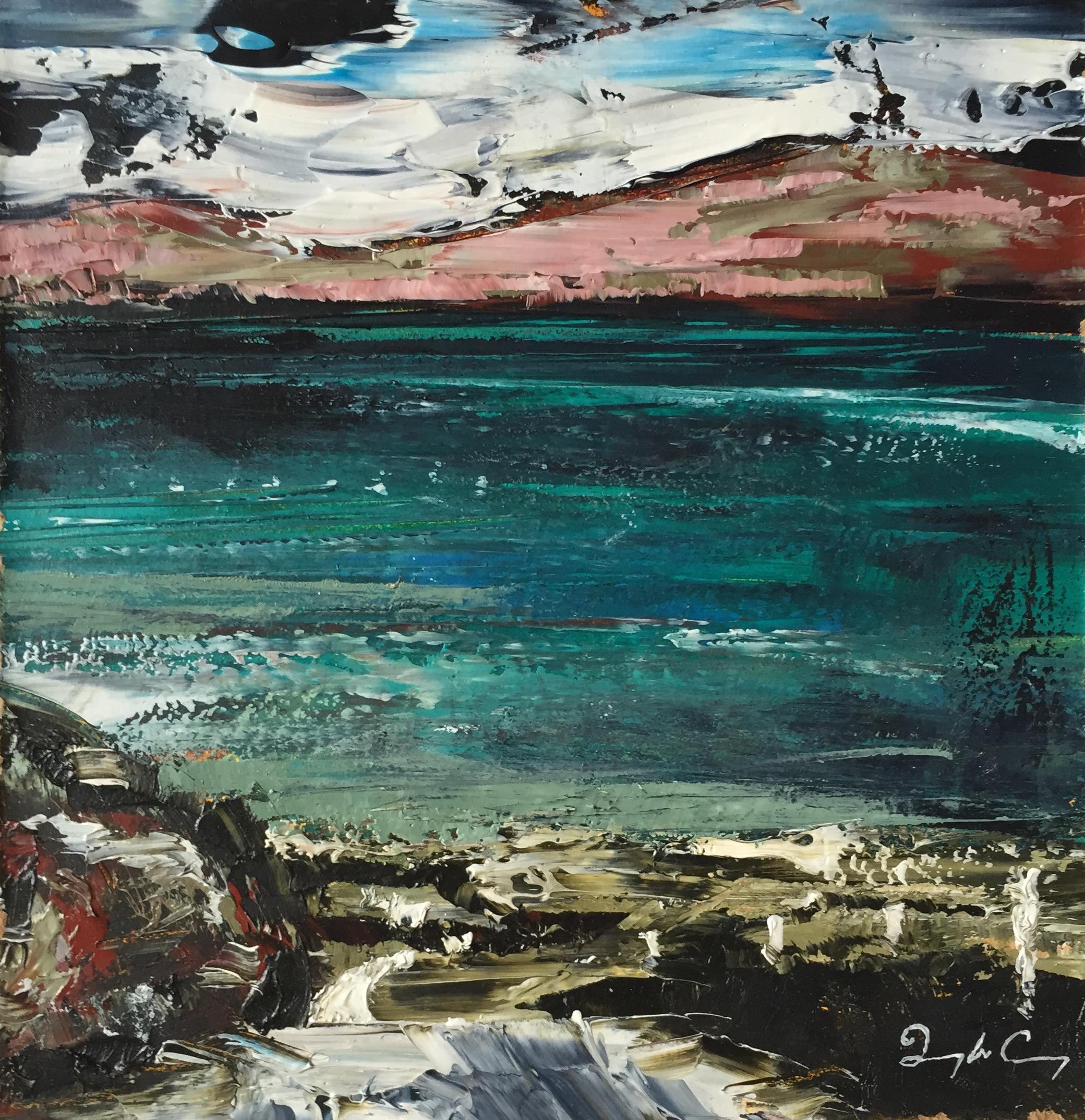 Dunmanus Bay, January l , oil on board, 15cm x 15cm