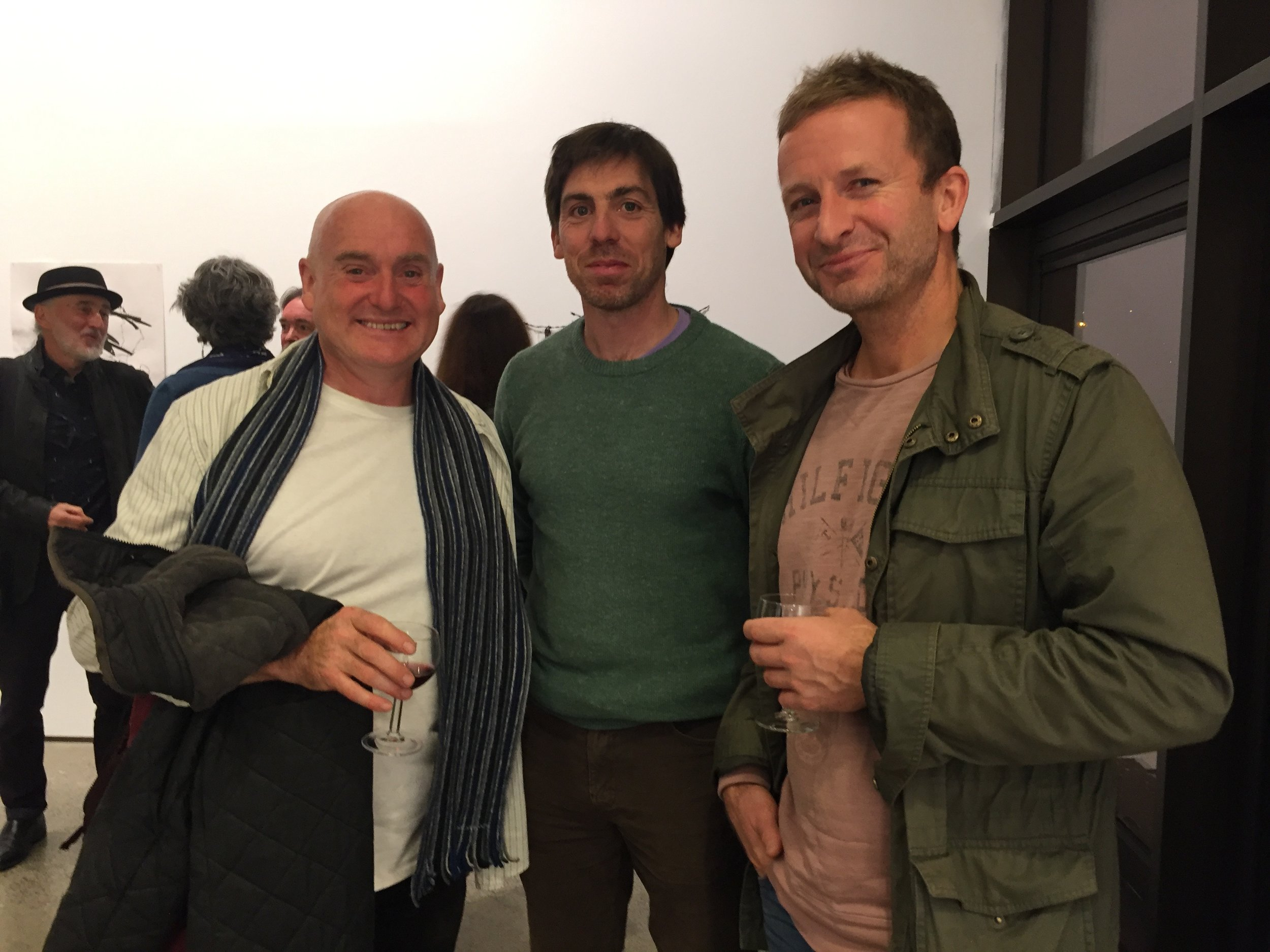 Donagh meeting up with sculptor Moss Gaynor and painter Michael McSwiney