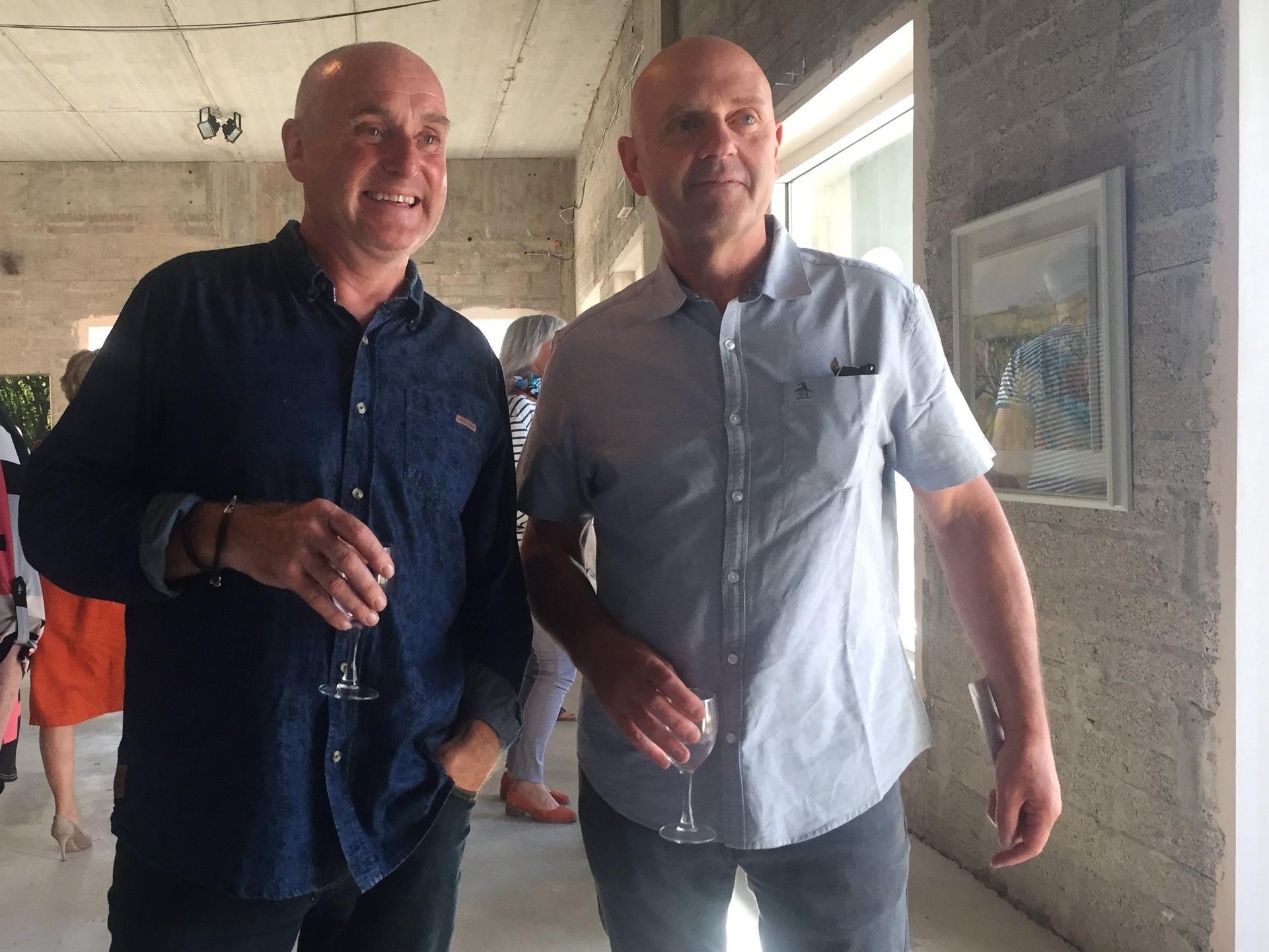 Donagh Carey with Donald Tesky