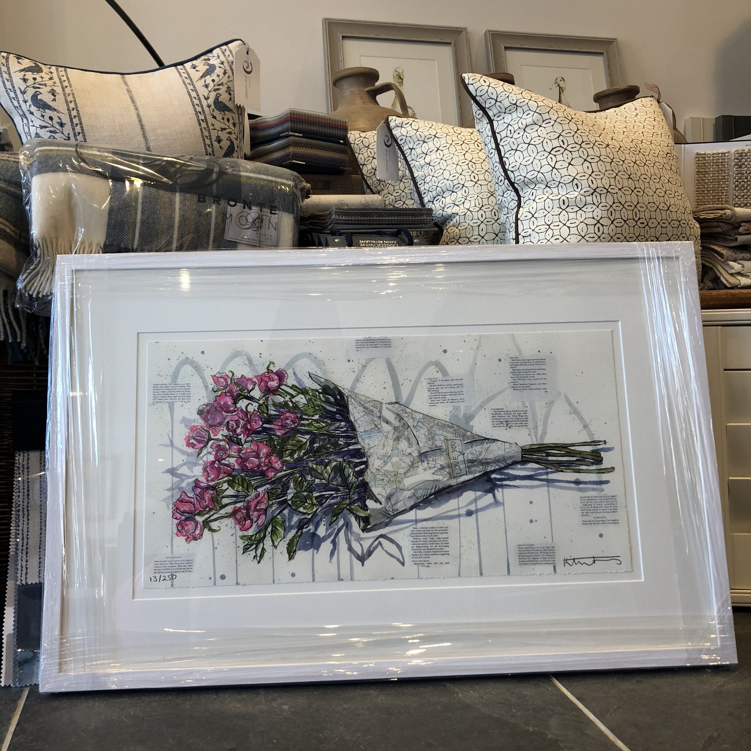 Looking lovely with the beautiful blues and greys in The Studio at Lovegrove's Farm