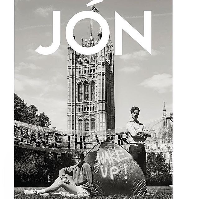#Repost @eddieblagbrough  New cover for the ECO edition of @jonmagazine 🖤 Featuring @jcull6_lcfc @imgmodels, @bensmithlive @elitemodelworld. Out this weekend! 😁 . Styling @stephen_conway  Grooming @evanhuangofficial  Big thanks to @fraznn for helping out . 'Youth in Revolt' is a story about a group of young men who see the dangers this world is facing and are protesting for change. All are wearing vintage or sustainable clothing, made out of recycled/eco friendly materials #reduce #reuse #recycle #nomoreplastic #sustainablefashion . . #editorial #editorialshoot #photography #fashionphotography #menswear #jonmagazine #photographyeveryday #photographerlife #photographyislifee #picoftheday #model #malemodel #london #cover #hairstyles #hair #makeupartist #makeup