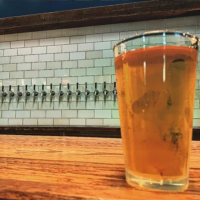 A  glass is never half empty at our place. #moustachebrewing 📸 @longislandbeerauthority