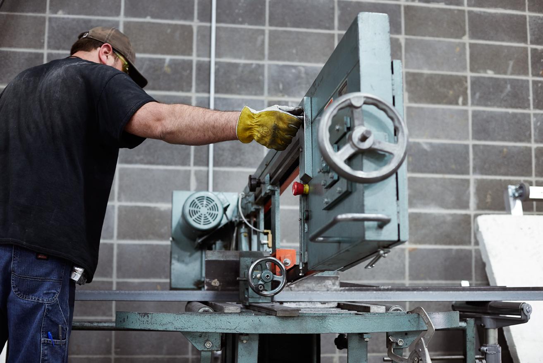 50,000 square feet metal department