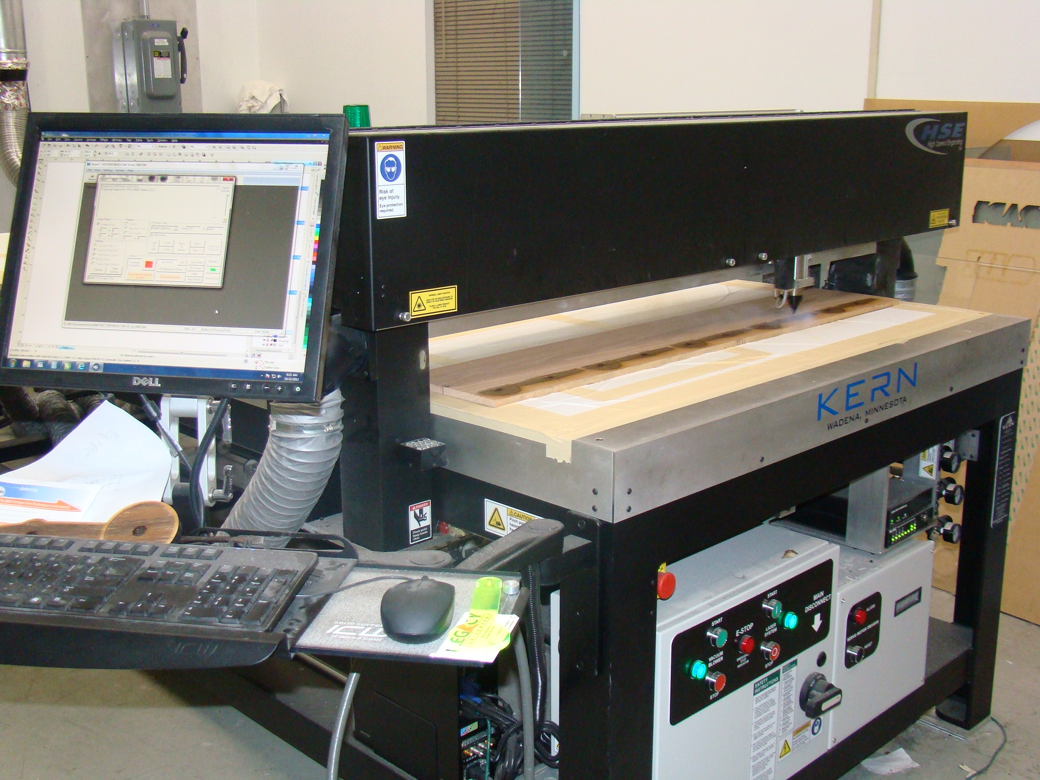 "Kern High Speed Laser Engraver 50""x100"", 2"" rotary"