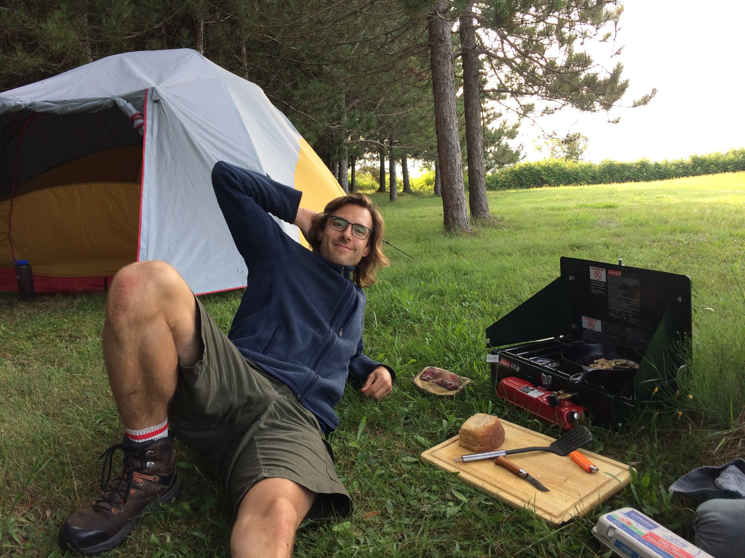 Mat is always a model camper.