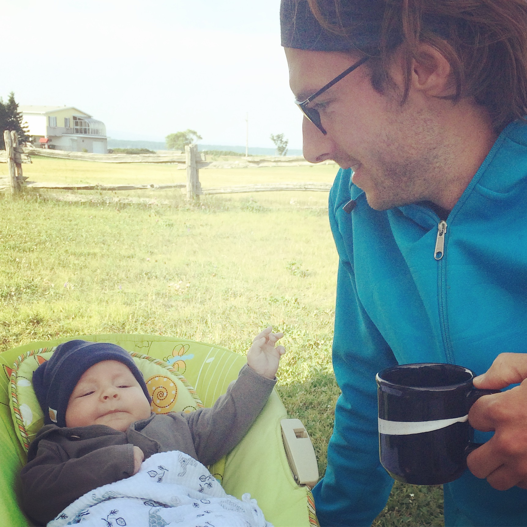 Coffee break on the campsite