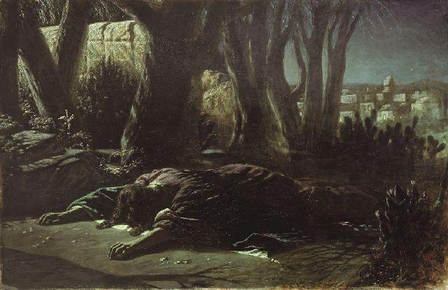 """""""Christ in the Garden at Gethsemane,"""" Vasily Perov"""