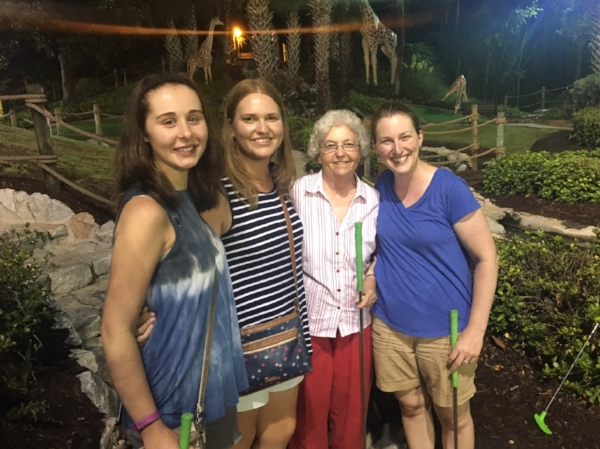 This was the night my grandmother trounced us all at mini golf.