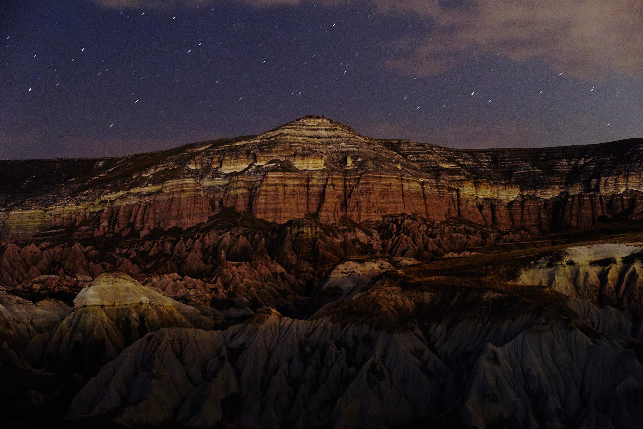 Rose Valley, Cappadocia after dark