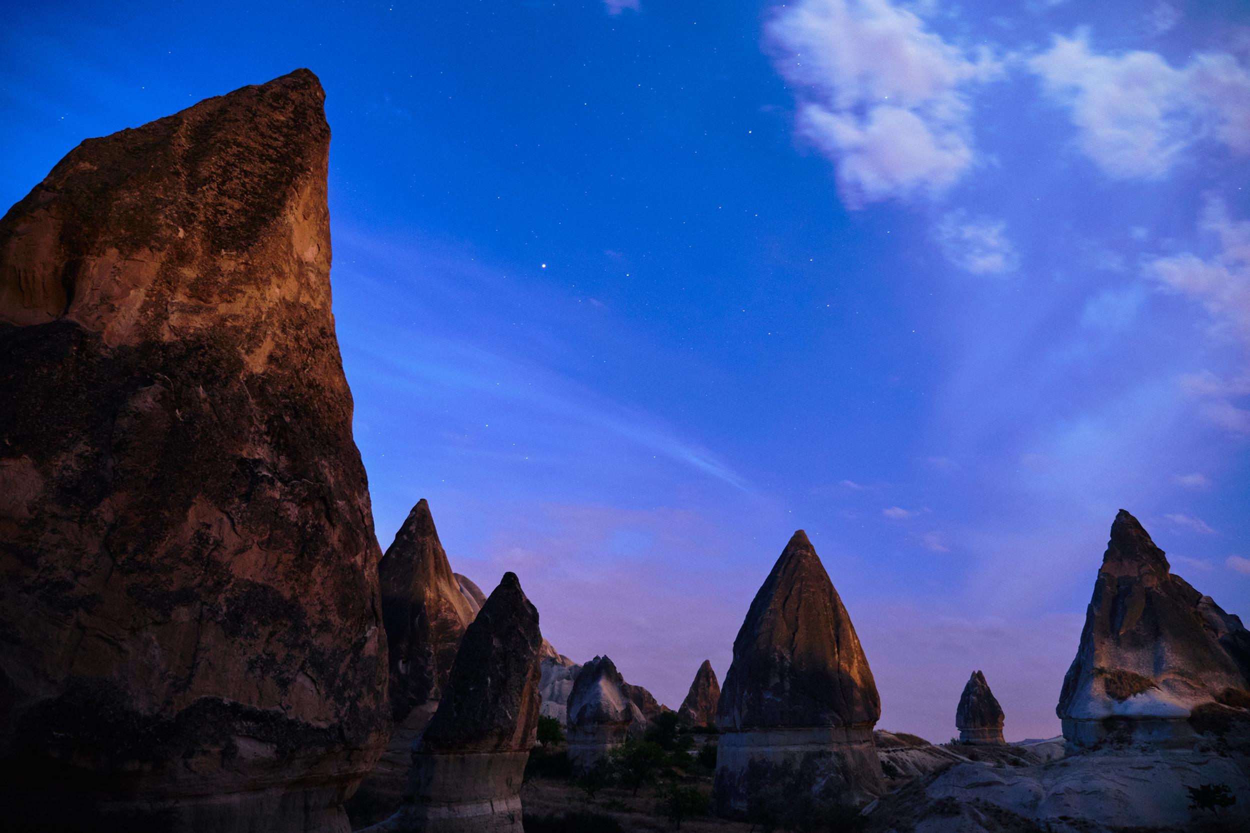 Cappadocia after dark
