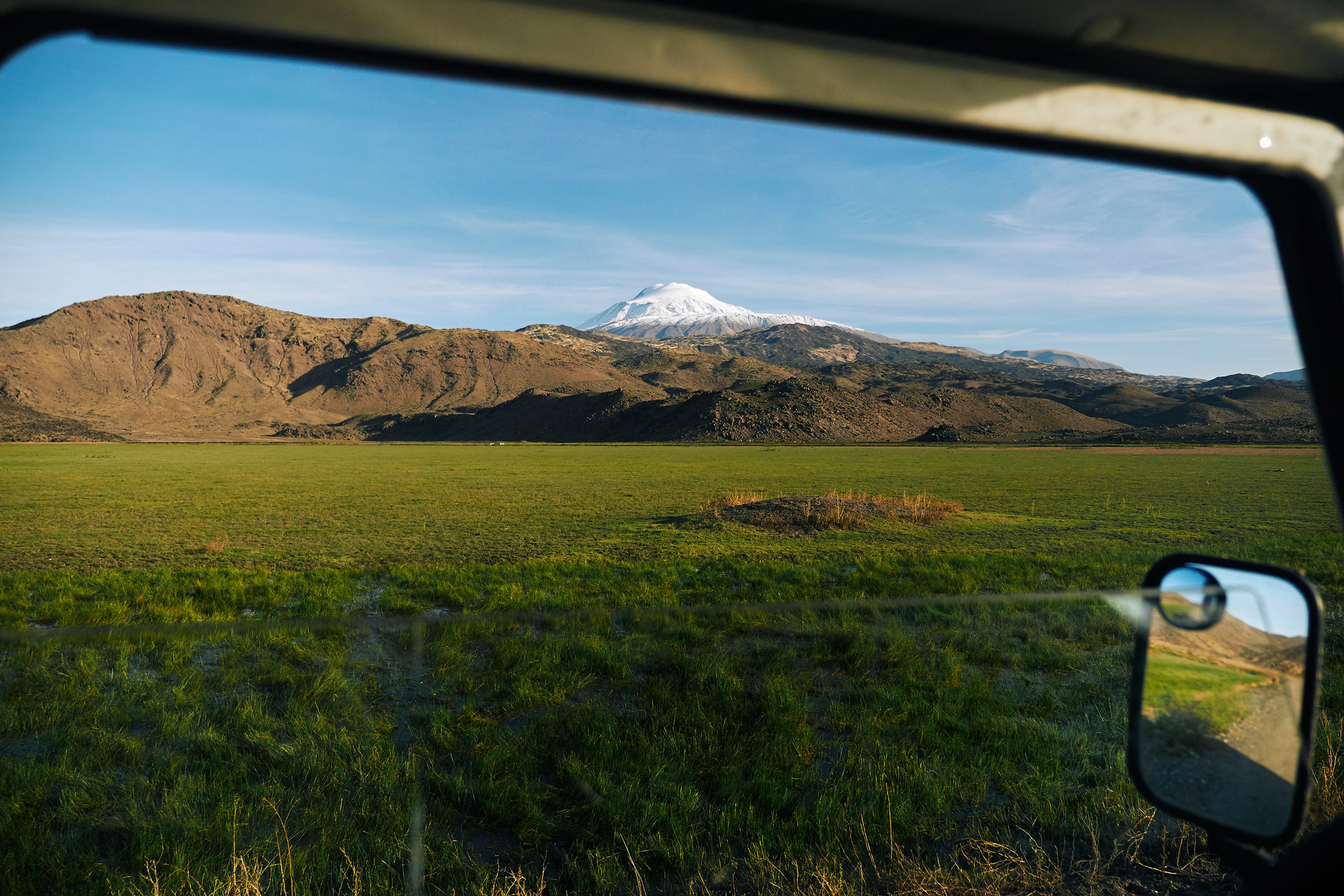 View of mount Ararat from the window