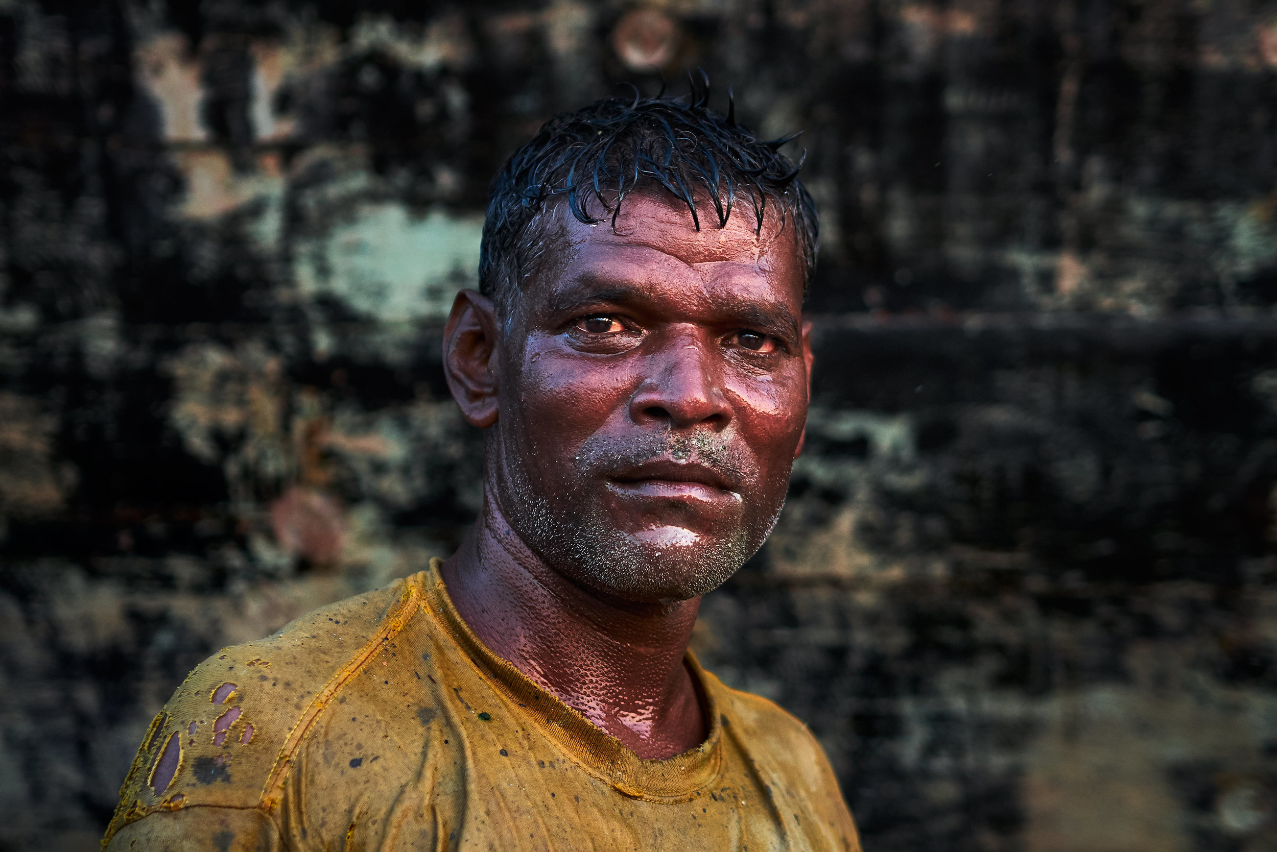 Portrait of a boat cleaner
